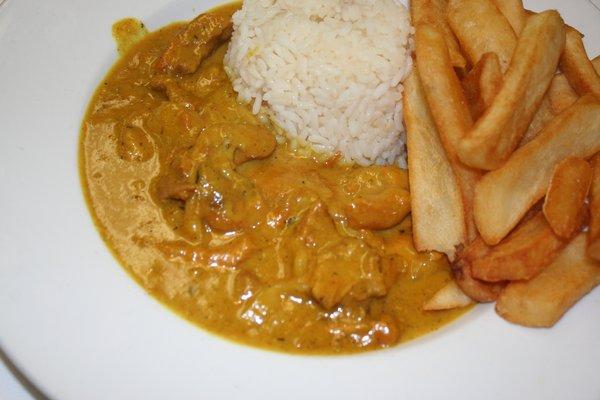 Chicken Curry And Half And Half Irish Style Food
