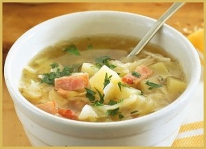 Bacon and Cabbage Soup