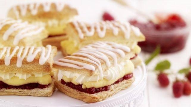 Raspberry & Custard Cream Slice