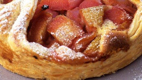 Rhubarb Brulee Tart