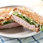 Ham, Brie, Marmalade & Arugula Pressed Sandwich