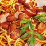 Banger & Tomato Spaghetti