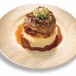 fillet beef with potato cake
