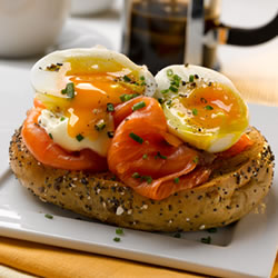 Eggs & Smoked Salmon Bagels