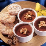Chocolate Pots with Nutty Biscuits