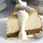Baked Lemon & Vanilla Cheesecake