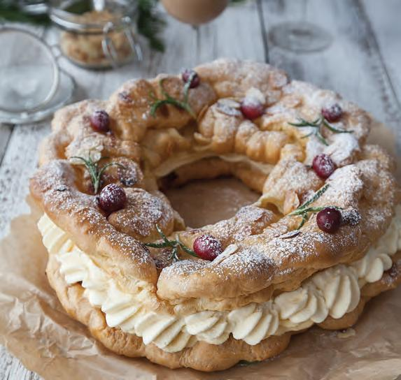 Christmas choux wreath food ireland irish recipes christmas choux wreath ingredients forumfinder Image collections