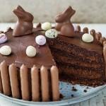 Chocolate Fudge Easter Cake