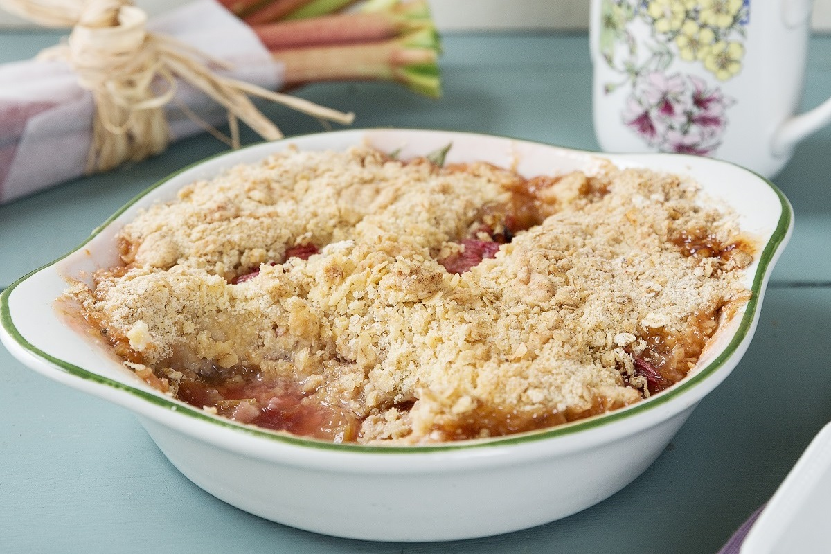 Rhubarb Crumble Food Ireland Irish Recipes