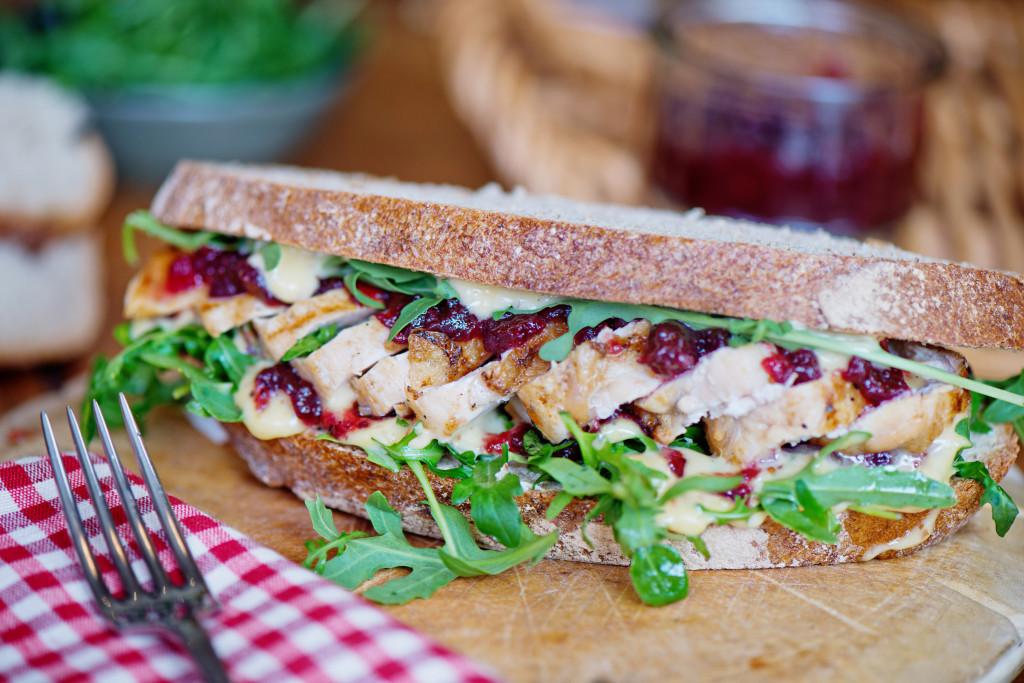 Grilled Chicken Cranberry Mayo And Rocket Sandwich Food Ireland Irish Recipes