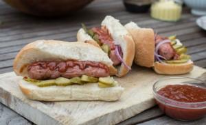 Hotdog with Ballymaloe Relish