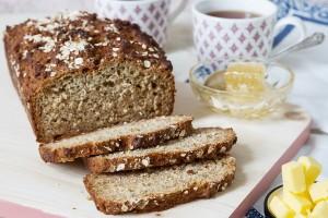 Honey & Oat Quick Bread
