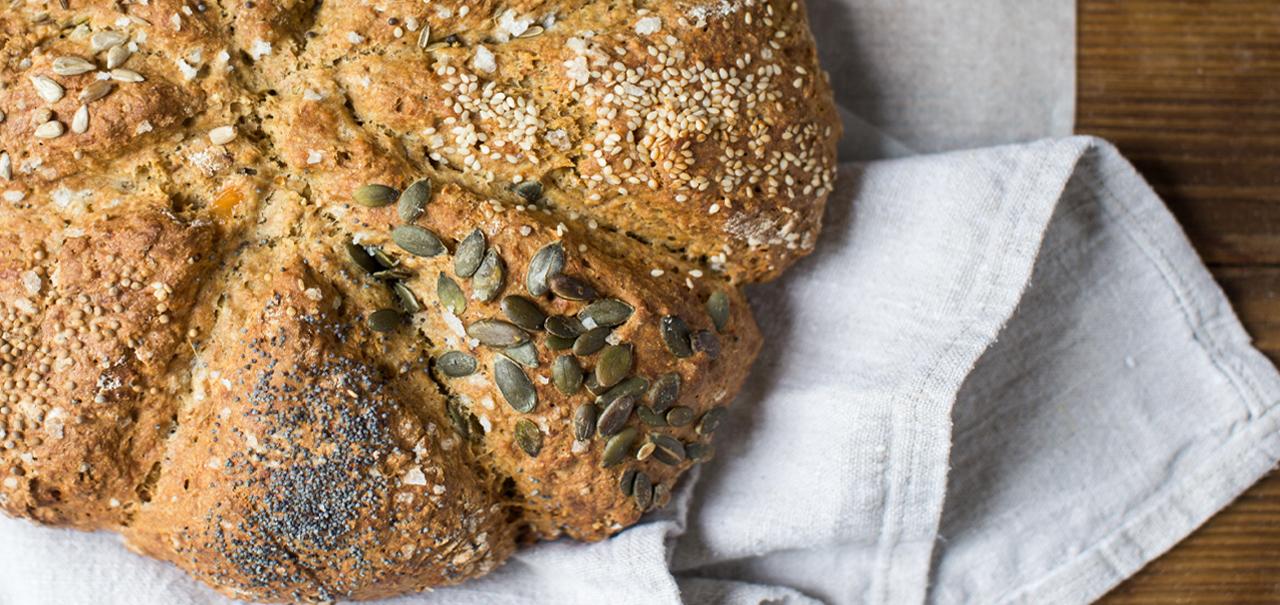 Seeded Cheddar Clodagh Bread