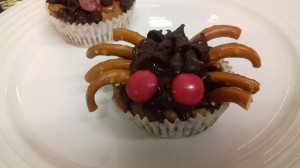 Spooky Spider Choc Chip Buns