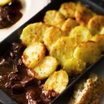 Beef Casserole with Sliced Potato