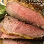 Roast Beef with Scallions and Caper Dressing