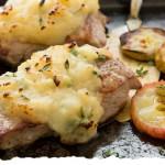 Pork fillet with Ballymaloe Apple Sauce stuffing
