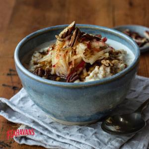 Apple, Cinnamon, and Pecan Porridge