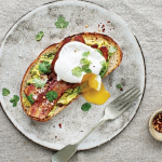 Poached Egg, Bacon and Avocado on Toast