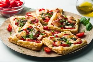 Mozzarella & Tomato Tarts