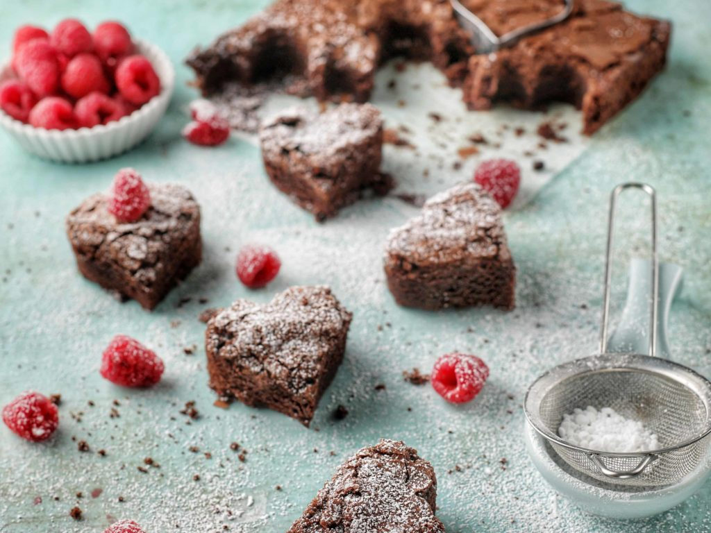 Chocolate Brownie Valentine Hearts